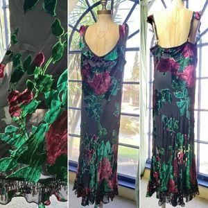 Betsey Johnson | Vtg Velvet Romantics Dress